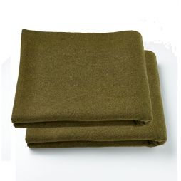 Two Pack - Olive Personal Protection Wool Blanket