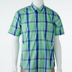 Ansett Back Bay Checked Soft Washed Shirt - Lime