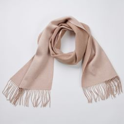 Wool Cashmere Two Tone Scarf - Cream/Camel