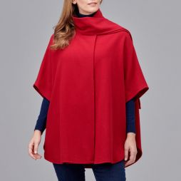 Ultimate Wool Swing Cape - Cherry Red