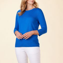 Boxy Ottoman Pullover - French Blue