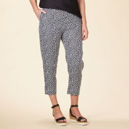 Linen 7/8 Length Pant - Spotted Print