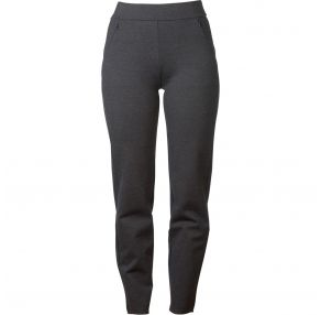 Cotton Ponti Zip Detail 7/8 Pant Charcoal