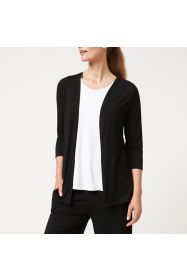 Bamboo Edge to Edge Cardigan - Black