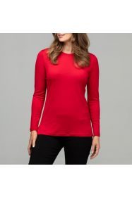Merino Emily Crew Top Cherry