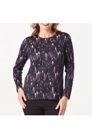 Merino Emily Printed Crew Top Galaxy