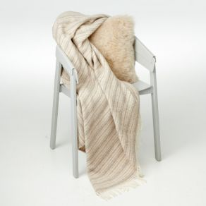 Alpaca Throw Rug Crepe Brown