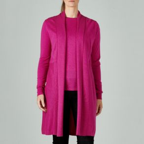 Merino Edge to Edge Cardigan Fuschia