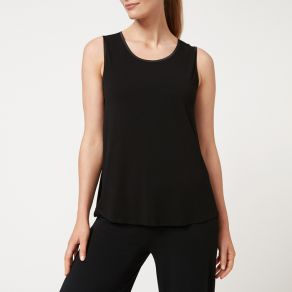 Bamboo Crew Tank Top - Black
