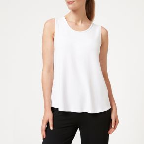 Bamboo Crew Tank Top - White