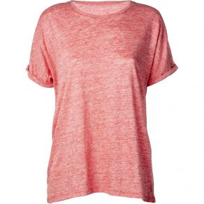 Linen Jersey Relaxed Tee Red