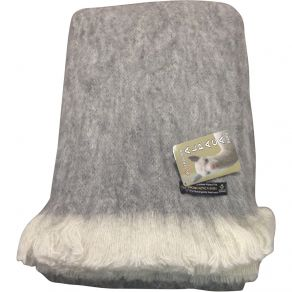Alpaca Brushed Throw Grey Marle