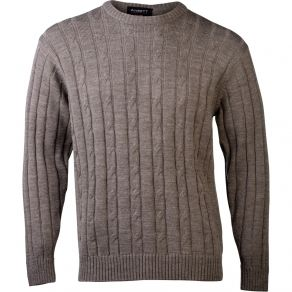 Ansett Crew Neck Cable Knit - Sable
