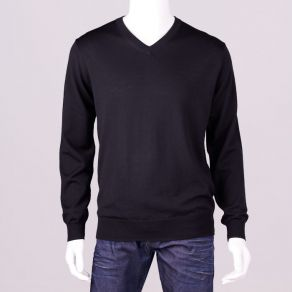 Ansett Merino Wool Vee Neck - Black
