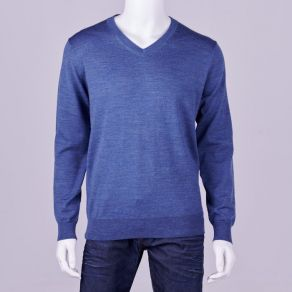 Ansett Merino Wool Vee Neck - Light Blue
