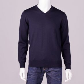 Ansett Merino Wool Vee Neck - Navy