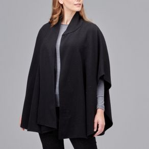 Ultimate Wool Swing Cape - Black
