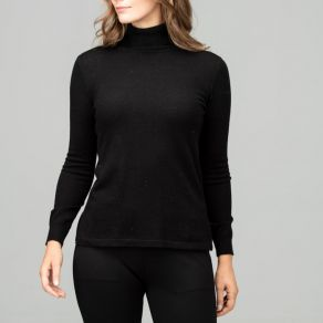 Merino Iconic Roll Neck Sweater Black