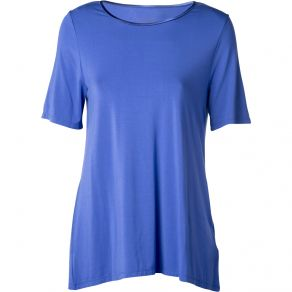 Bamboo Crew Neck Short Sleeve T-Shirt Periwinkle