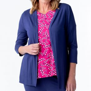 Bamboo Edge to Edge Cardigan Navy
