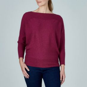 Possum Berringdale Batwing Jumper Red Violet